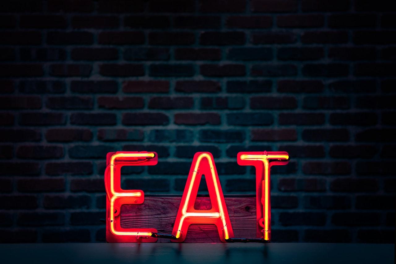 Vegan cafe sign.